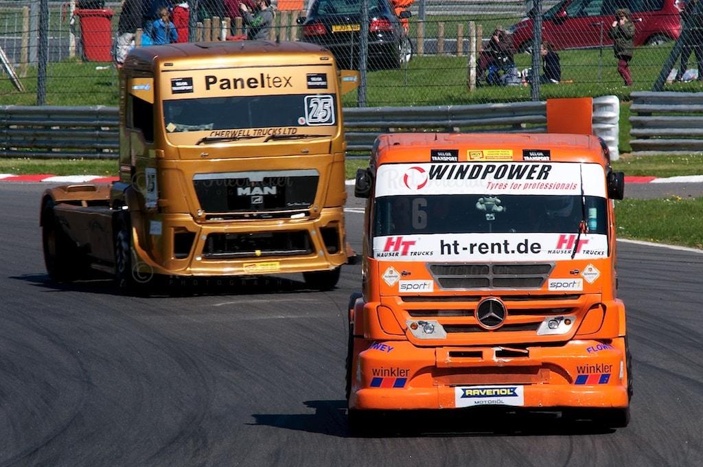No 36, Heinz-Werner Lenz, No 25, Ben Horne, British Truck Racing Championship