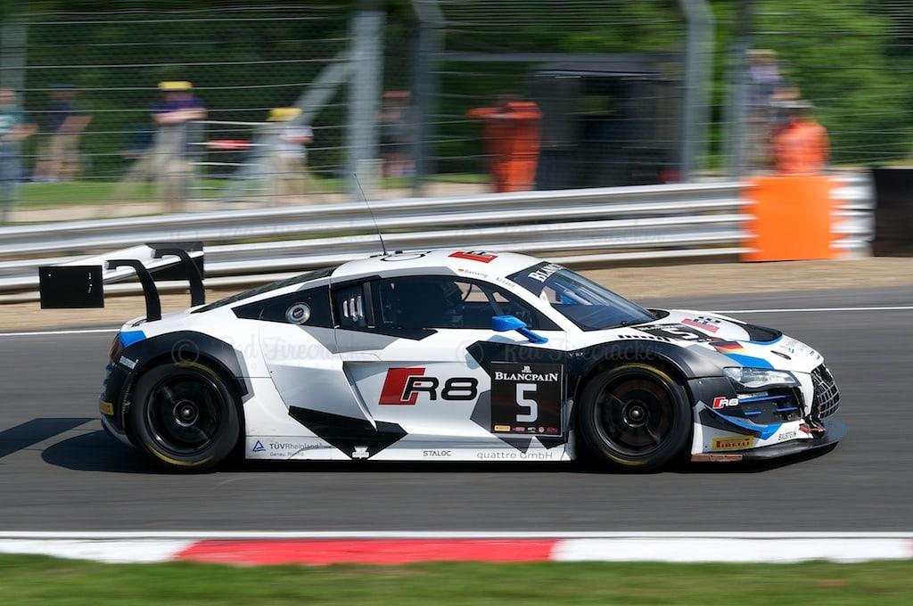 No 5, Phoenix Racing, Audi R8 LMS Ultra, Blancpain Series, Brands Hatch 2014