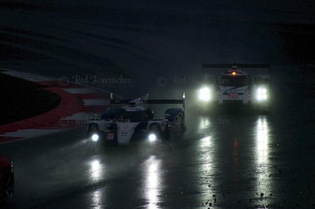 No 8, Toyota TS 040 and No 20, Porsche 919, FIA WEC Silverstone