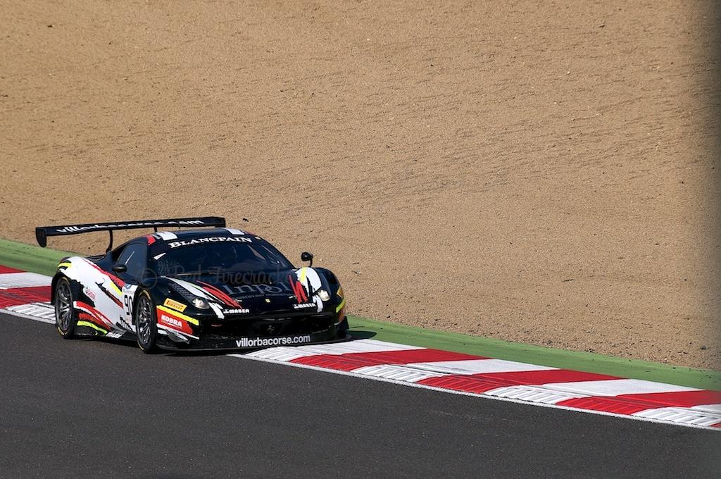 No 90, Scuderia Villorba Corse, Ferrari 458 Italia, Blancpain Series, Brands Hatch 2014