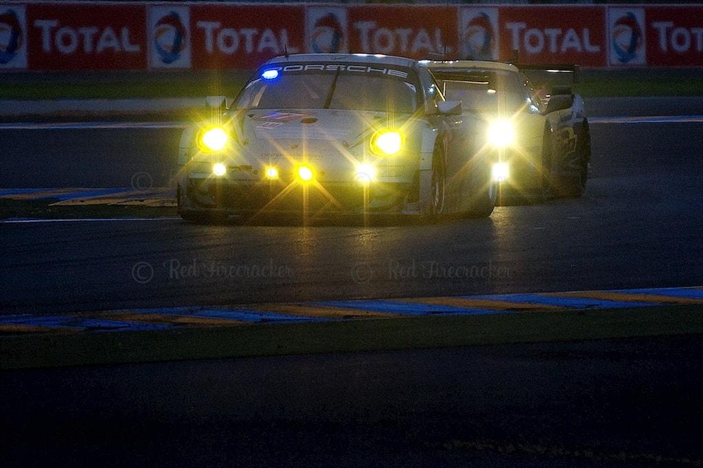No 77 Dempsey Del Piero-Proton Porsche 911 GT3 RSR, GTE AM, Patrick Dempsey, Patrick Long, No 74 Corvette Racing Chevrolet Corvette C6.R, Oliver Gavin, Richard Westbrook, Tommy Milner, Le Mans 24 Heures 2013