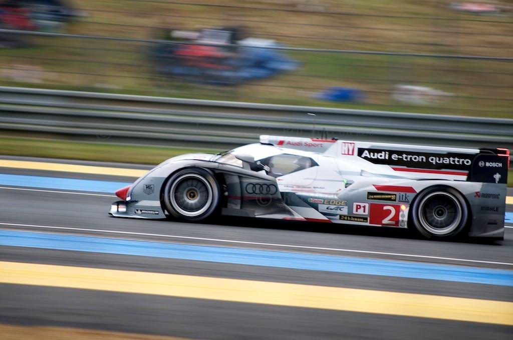 No 2 Audi Sport Team Joest R18 e-tron quattro, LMP1, Allan McNish, Tom Kristensen, Loïc Duval, Le Mans 24 Heures 2013